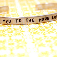 I Love You To The Moon And Back Cuff Bracelet