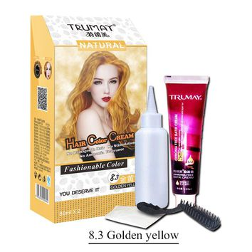 Professional hair color popular colour golden yellow wine Grape Purple Permanent Hair Dye Cream Non-Toxic DIY Hair Dye Cream