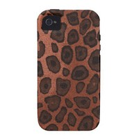 Animal Print Texture Vibe iPhone 4 Covers from Zazzle.com