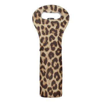 Leopard Print Wine Bag