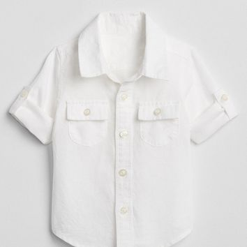 Convertible Shirt in Linen | Gap