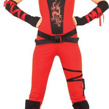 Ninja Assassin 4 Pc Red Costume for adult Men