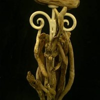 BoGaLeCo.com / Decorative objects / driftwood / Candlesticks / Large wooden candle float