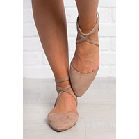 Finley Suede Flats (Taupe)