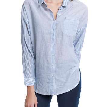 Peace Out Stripe Shirt - Blue