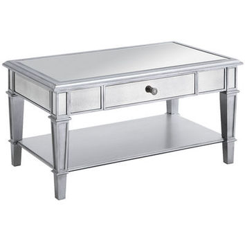 Hayworth Mirrored Silver Coffee Table