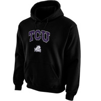 TCU Horned Frogs Midsize Arch Pullover Hoodie - Black