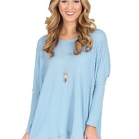 When I'm With You Sweater in Blue | Monday Dress Boutique