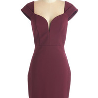 ModCloth Mid-length Cap Sleeves Sheath This Is Your Year Dress