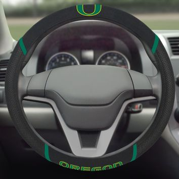 FANMATS University of Oregon Ducks Steering Wheel Cover Embroidered
