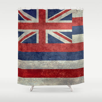 The State flag of Hawaii - Vintage version Shower Curtain by Bruce Stanfield