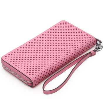 Leather Ladies Zippers Korean Hollow Out Bags Cross Wallet [9338144711]