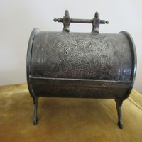 Victorian Silverplate Mechanical Jewelry Casket Jewel Box