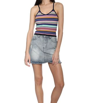 Sunday Stevens Stripe Knit Crop Tank