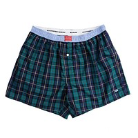 Hanover Oxford Boxers in Blue & Green Tartan by Southern Marsh