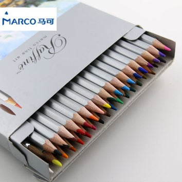 Marco Raffine Fine Art Colored Pencils Lapis de cor Professional Painting Watercolor Pencil Drawing Art Supplies 24 36 color