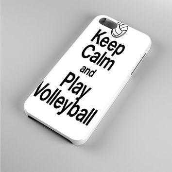 Keep Calm Play On Volleyball Iphone 5s Case