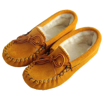 Children's Soft-Sole Suede Moccasins