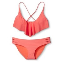 Xhilaration® Junior's Mix and Match 2-Piece Swimsuit -Pink