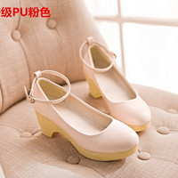High Quality Sweet Square Heel Low Lolita Pumps Flock Candy Color Green Red Yellow Khaki Slip-On Lady Casual Footwear New Spring