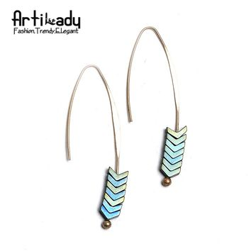 Artilady Natural Stone Arrow Design Earrings