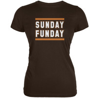 Sunday Funday Cleveland Brown Juniors Soft T-Shirt