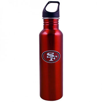 NFL San Francisco 49ers Stainless Steel Red Water Bottle - 26 oz (770 ml)