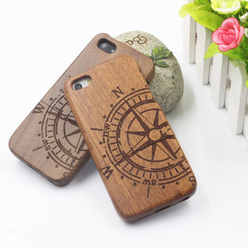 Bamboo Traditional Sculpture Wood Hard Back Wooden Case Cover phone Case for iphone 5 5S 5G