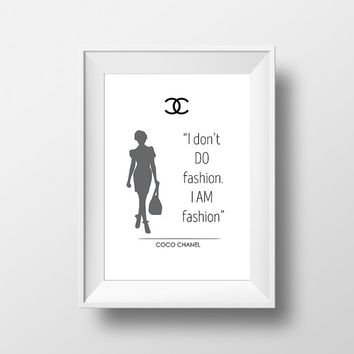 coco chanel poster, fashion,  inspirational quotes, coco chanel print, coco chanel quotes,  coco wall art, wall art quote, Monochrome print,