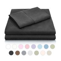MALOUF Double Brushed Microfiber Super Soft Luxury Bed Sheet Set - Wrinkle Resistant - Twin Size - Black