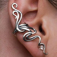 Silver Spiro Ear Cuff by martymagic on Etsy