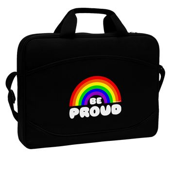 "TooLoud Rainbow - Be Proud Gay Pride 15"" Dark Laptop / Tablet Case Bag"