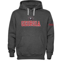 Georgia Bulldogs Double Shot Pullover Hoodie - Charcoal