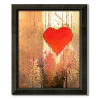 Heart Strings 24.5'' x 20'' Framed Canvas Art