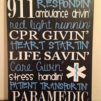 11 x 14 Personalized Subway Art. Sayings for EMT/Paramedic. Wall Decor.