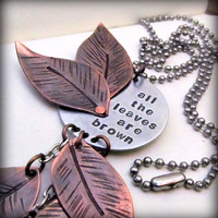 Hand Stamped Jewelry Mixed Metal Necklace by FiredUpLadiesHammer