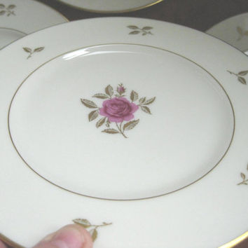 Lenox Rhodora Gold Backstamp  Salad Plates,Near Mint, 4 salad plates: 3 sets available
