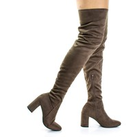 Billy By Speed Limit 98, Retro OTK Over Knee Dress Boots On Block Heel