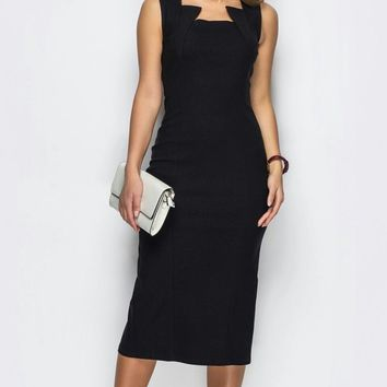 Classic Black Cut Out Dress - Custom Sizing Available