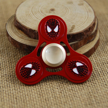 Top Spiner EDC Stress Wheel Batman Fidget Spinner Metal Ironman Fidget Toy Spiderman Hand Spinner
