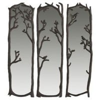 One Kings Lane - Evergreen - Birds in Trees Mirrors, Set of 3