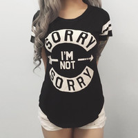 Sorry, Not Sorry Top (MORE COLORS)