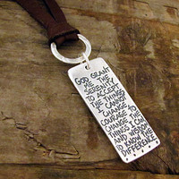 Serenity Prayer Necklace Silver Serenity Prayer by HANNI on Etsy