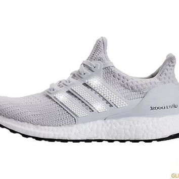 Adidas Ultraboost + Crystals - White
