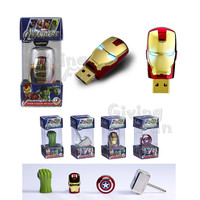 AUTHENTIC AVENGERS Marvel IRONMAN 8GB USB 2.0 Flash Drive Disk Gold Mask VI