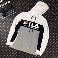 FILA Woman Men Casual Fashion Hoodie Top Sweater Pullover