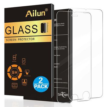 LMFMS6 iPhone 6 plus Screen Protector,iPhone 6s plus Screen Protector,[2 Pack]by Ailun,2.5D Edge Tempered Glass, Anti-Scratch,Case Friendly,Siania Retail Package