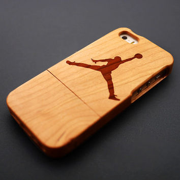 Buy 1 Get 1 Free - Jordan Wood iPhone 5 , 5S Case - Cherry Wood iPhone 5S Case - iPhone 5 Case Wood - Custom iPhone5 Case Wood - Gift for BF