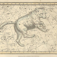Ursa major, Antique map of the Moon, ancient maps, constellation, galaxy, 42