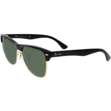 Ray-Ban Men's Clubmaster Oversized RB4175-877-57 Black Square Sunglasses